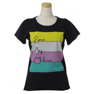 SEE BY CHLOE(シーバイクロエ) レディースTシャツ 464208 C74 ブラック