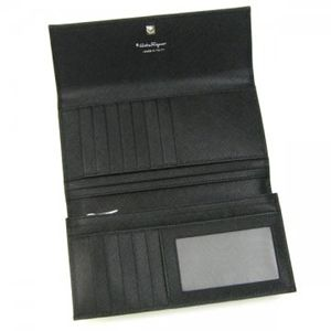Ferragamo(フェラガモ) 長財布 VARA ICONA 22A953 434077 ブラック H10×W18.5×D2.5の写真2