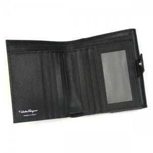 Ferragamo(フェラガモ) Wホック財布 GANCINI ICONA VITELL 22A960 433597 ブラック H10.5×W12×D2.5の写真2