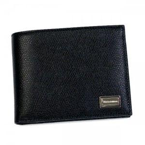 DOLCE&GABBANA(ドルチェアンドガッバーナ) 二つ折り財布(小銭入れ付)  BP0457 8B956 ブラック H9.5×W12×D2の写真1