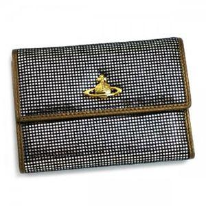 Vivienne Westwood(ヴィヴィアンウエストウッド) 二つ折り財布(小銭入れ付) NEW SLOANE 738V  シルバー H10×W13.5×D2.5の写真1