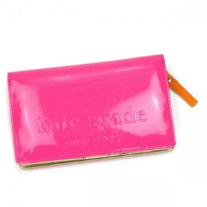 KATE SPADE(ケイトスペード) 二つ折り財布(小銭入れ付) BIG APPLE PWRU1290 693 ピンク H9×W15×D3