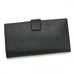 Prada(プラダ) 長財布 SAFFIANO METAL ORO 1M1133 FO002 ブラック H10.5×W19.5×D2.5