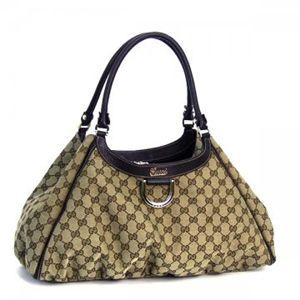 Gucci(グッチ) トートバッグ D GOLD 189835 9643 ベージュ/ダークブラウン H21×W26/45×D15