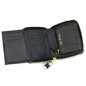 JUICY COUTURE(ジューシークチュール) 二つ折り財布(小銭入れ付) REPLENISHMENT SLGS YSRU1027 1 ブラック H10×W11×D2.5