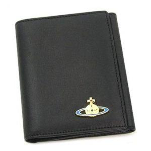 Vivienne Westwood(ヴィヴィアンウエストウッド) Wホック財布 NAPPA CALF 737V ブラック/ゴールド H12×W10×D2