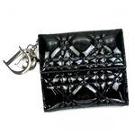 DIOR(ディオール) Wホック財布  VRB43025P N0A3 ブラック/シルバー H9.5×W10.5×D2.5【送料無料】