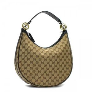 Gucci(グッチ) ホーボー GG TWINS 232962 9769 ブラック/ベージュ H2(C)×W33×D11