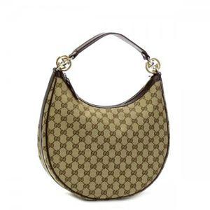 Gucci(グッチ) ホーボー GG TWINS 232962 9643 ベージュ/ダークブラウン H2(C)×W33×D11