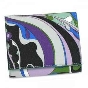 Emilio Pucci(エミリオプッチ) 二つ折り財布(小銭入れ付) 11SM73 19 グリーン