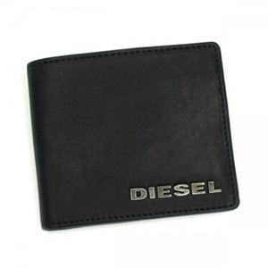DIESEL(ディーゼル) 二つ折り財布(小銭入れ付) JEM WALLETS X00106 T8013 ブラック