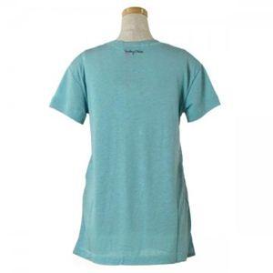 SEE BY CHLOE(シーバイクロエ) レディースTシャツ 4A1105 U44 ライトブルー L66 S15.5 W45 SH42