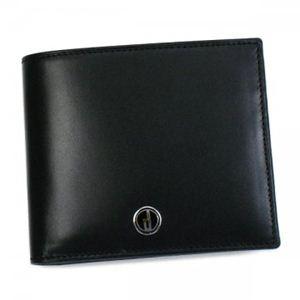 Dunhill(ダンヒル) 二つ折り財布(小銭入れ付) SENTRYMAN LL3070A ブラック H9×W11×D2
