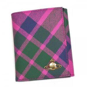 Vivienne Westwood(ヴィヴィアンウエストウッド) Wホック財布 DERBY 737V ピンク H12×W10×D2【送料無料】