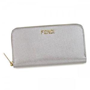 Fendi(フェンディ) 長財布 8M0024 F0WN4 シルバー (H10×W19×D2)