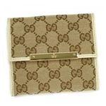 Gucci(グッチ) Wホック財布 METAL BAR 112664 9773 ベージュ/アイボリー (H10.5×W12×D3)