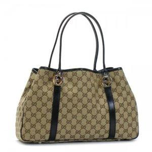 Gucci(グッチ) トートバッグ GG TWINS 232957 9769 ブラック/ベージュ (H24×W27/37×D10)