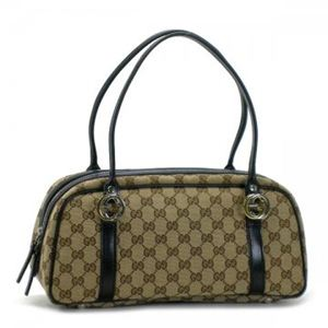 Gucci(グッチ) ショルダーバッグ GG TWINS 232958 9769 ブラック/ベージュ (H24×W27/37×D10)