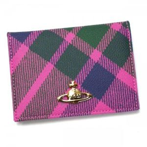Vivienne Westwood(ヴィヴィアンウエストウッド) 長財布 DERBY 724V ピンク (H7.5×W10.5×D1.5)