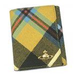 Vivienne Westwood(ヴィヴィアンウエストウッド) Wホック財布 DERBY 737V イエロー (H12×W10×D2)