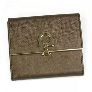 Ferragamo(フェラガモ) Wホック財布 GANCINI ICONA VITELL 224639 433257 ブロンズ (H10×W12×D4)