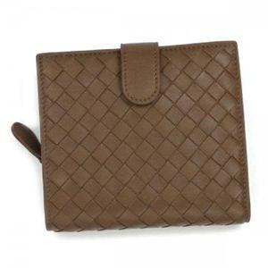 BOTTEGA VENETA(ボッテガベネタ) 二つ折り財布(小銭入れ付) PORTAMONETE INTRECCI 114073 2802 ブラウン (H11×W12×D3)