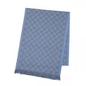 Gucci(グッチ) マフラー類セット 100995 1169 ブルー (L189×W35)