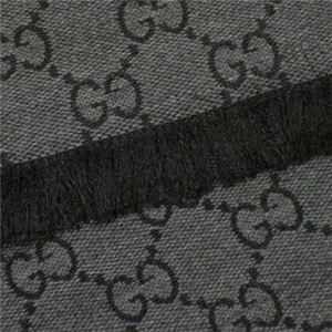 Gucci(グッチ) マフラー類セット 246857 1262 ダークグレー (L174×W36.5)