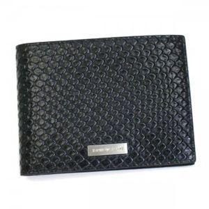 EMPORIO ARMANI(エンポリオアルマーニ) 二つ折り財布(小銭入れ付) BOPAL YEM078 80001 ブラック