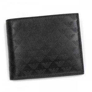 EMPORIO ARMANI(エンポリオアルマーニ) 二つ折り財布(小銭入れ付) LINEA MINORCA ALL-OV YEM122 80190 ダークブラウン