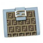 Fendi(フェンディ) Wホック財布 CAPカバル 8M0188 F0MUO ライトブルー