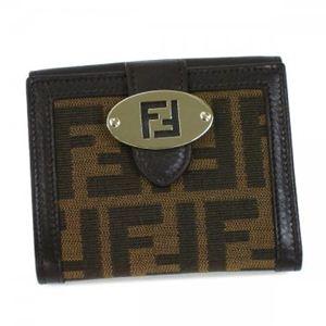 Fendi(フェンディ) Wホック財布 ZUCCA JACQUARD 8M0188 F0MR5 ダークブラウン