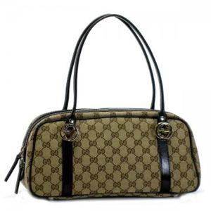 Gucci(グッチ) ショルダーバッグ GG TWINS 232958 9643 ベージュ/ダークブラウン - 拡大画像