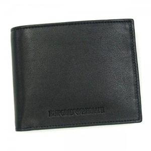 EMPORIO ARMANI(エンポリオアルマーニ) 二つ折り財布(小銭入れ付) PICCOLA PELLETTERIA YEM122 80001 ブラック