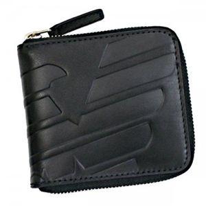 EMPORIO ARMANI(エンポリオアルマーニ) 二つ折り財布(小銭入れ付) NEW NEVADA YEM858 80001 ブラック