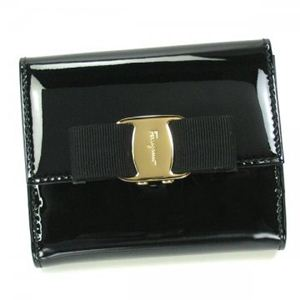 Ferragamo(フェラガモ) Wホック財布 VARA PRINT ITEM 22A926 4647274 ブラック