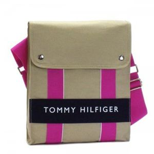 TOMMY HILFIGER(トミーヒルフィガー) 斜めがけバッグ 6912239 617 LT KHAKI/ NAVY