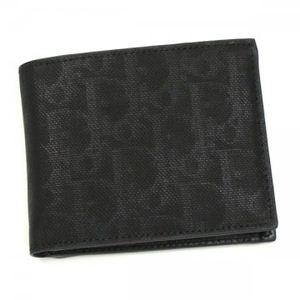 DIOR(ディオール) 二つ折り財布(小銭入れ付) DIOR HOMME 2DLBC019 900 ブラック