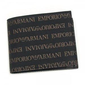 EMPORIO ARMANI(エンポリオアルマーニ) 二つ折り財布(小銭入れ付) LINEA TESSUTO LOGA YEM122 87479 ブラウン/ダークブラウン