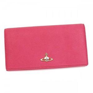 Vivienne Westwood(ヴィヴィアンウエストウッド) 長財布 TWISTED 32.098 レッド/ピンク