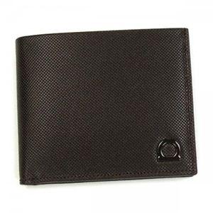 Ferragamo(フェラガモ) 二つ折り財布(小銭入れ付) MENS SLG GANCIO ONE 668669 476814 ブラウン