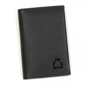 Ferragamo(フェラガモ) カードケース MENS SLG GANCIO ONE 668678 476812 ブラック