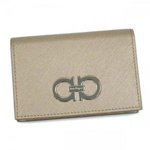 Ferragamo(フェラガモ) カードケース GANCINI ICONA VITELL 22A552 437433 ブロンズ