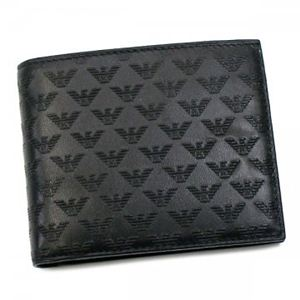 EMPORIO ARMANI(エンポリオアルマーニ) 二つ折り財布(小銭入れ付) LINEA MINORCA ALL-OV YEM122 80001 ブラック