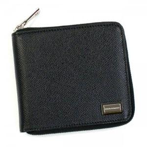DOLCE&GABBANA(ドルチェアンドガッバーナ) 二つ折り財布(小銭入れ付) BP1365 8B956 ブラック