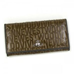 Vivienne Westwood(ヴィヴィアンウエストウッド) 長財布 EMBOSSEDLOGO 1032V ブラウン - 拡大画像