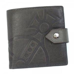 Vivienne Westwood(ヴィヴィアンウエストウッド) 二つ折り財布(小銭入れ付) MANGIANT ORB 2814 ダークグレー - 拡大画像