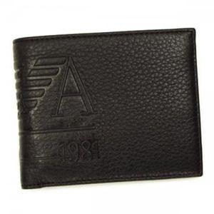 EMPORIO ARMANI(エンポリオアルマーニ) 二つ折り財布(小銭入れ付) LINEA ANGAR YEM122 80190 ダークブラウン