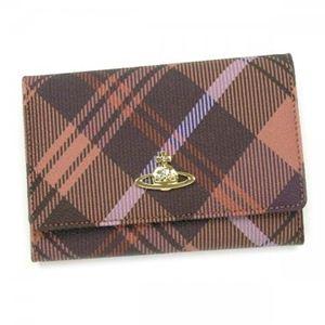 Vivienne Westwood(ヴィヴィアンウエストウッド) 二つ折り財布(小銭入れ付) DERBY 746V オレンジ - 拡大画像