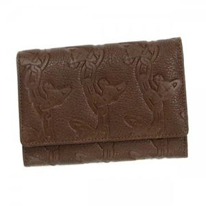 Vivienne Westwood(ヴィヴィアンウエストウッド) 二つ折り財布(小銭入れ付) CHAIN ORB 746V ダークブラウン - 拡大画像